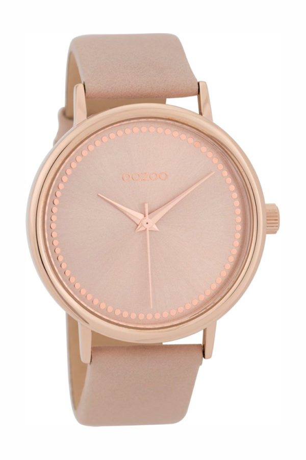 OOZOO Timepieces Pink Leather Strap