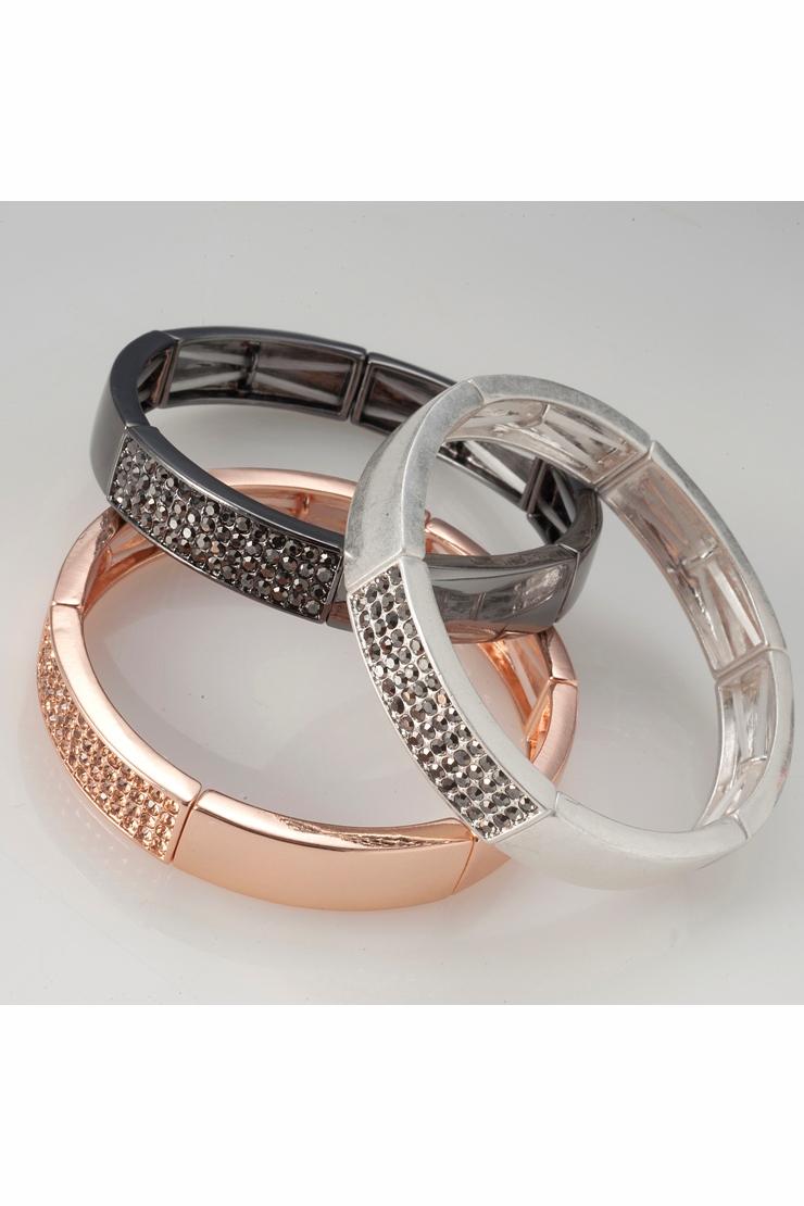 Βραχιόλι ασημί-μαύρο-ροζ χρυσό - BELLANICOLE.GR 393d27d97d0