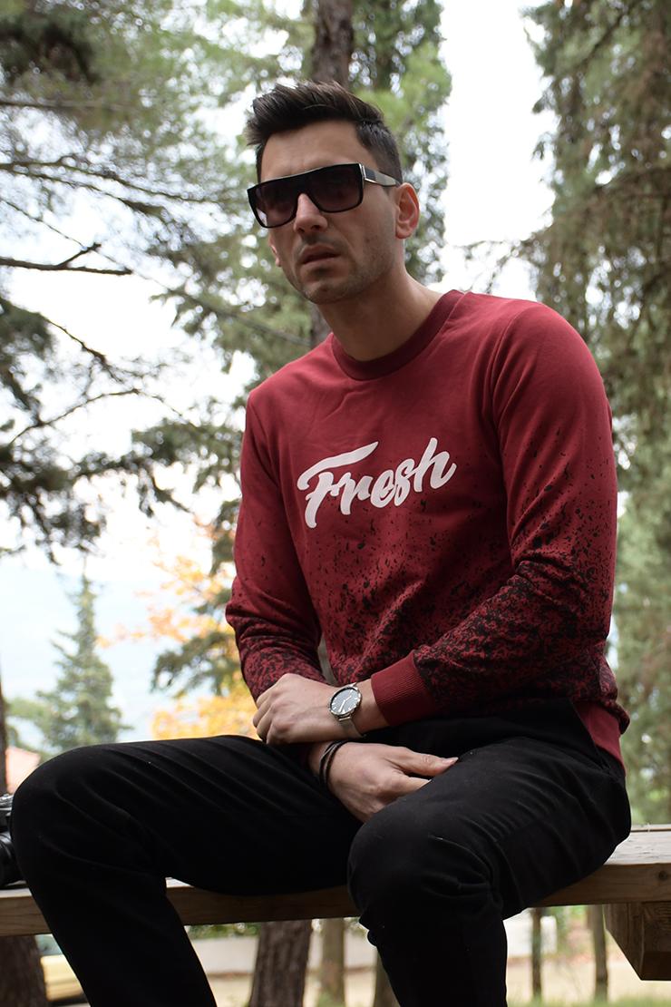 Φούτερ Μπλούζα-fresh μπορντό