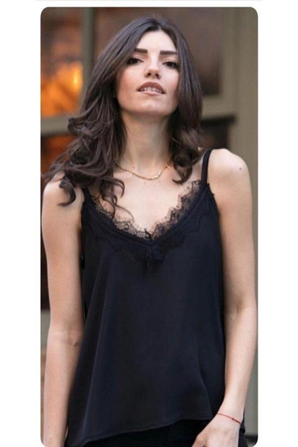 Μπλούζα τιραντάκι μαύρο
