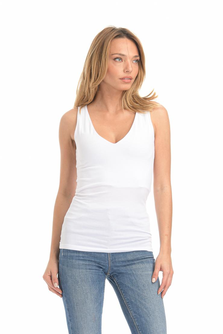 Μπλούζα αμάνικη λευκή