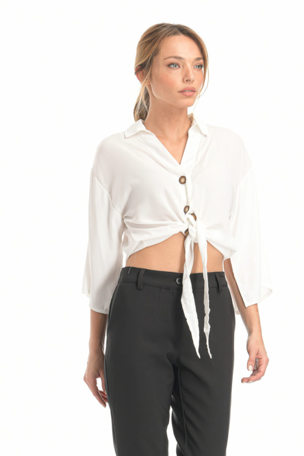 Μπλούζα πουκάμισο λευκό