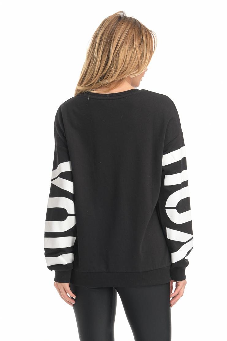 Μπλούζα φούτερ μαύρο