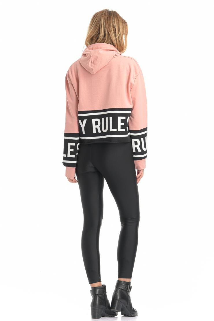 Μπλούζα φούτερ ροζ