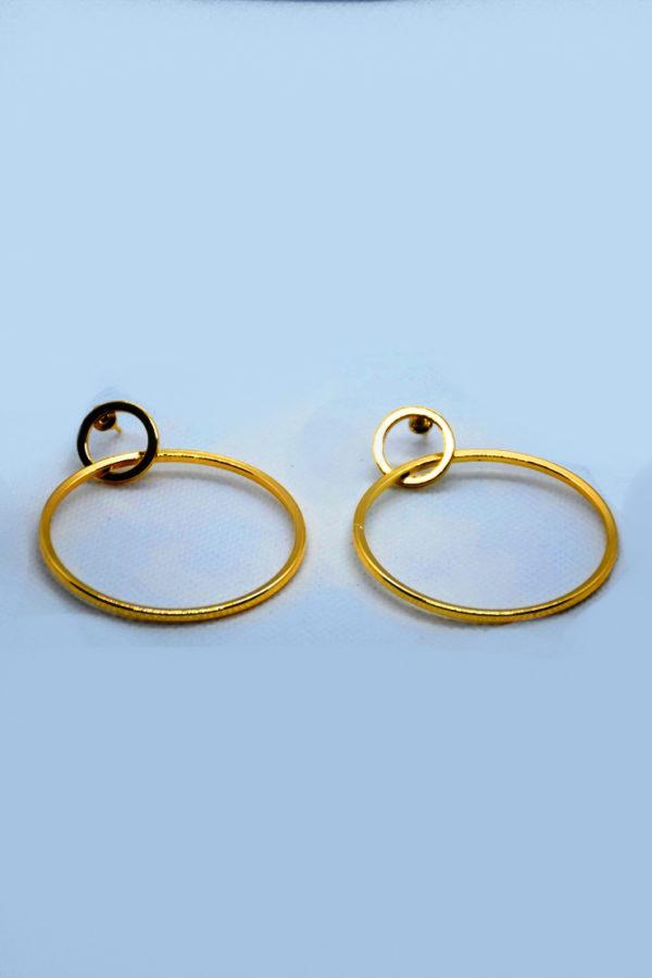Σκουλαρίκια κύκλος χρυσό υποαλεργικό