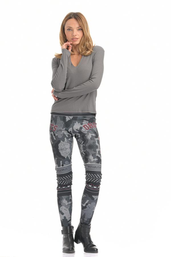 Κολάν Grey Camo Leggings